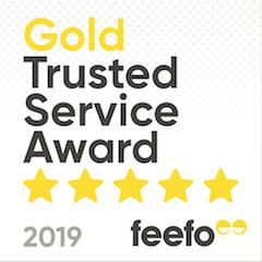 Feefo Gold Service Award