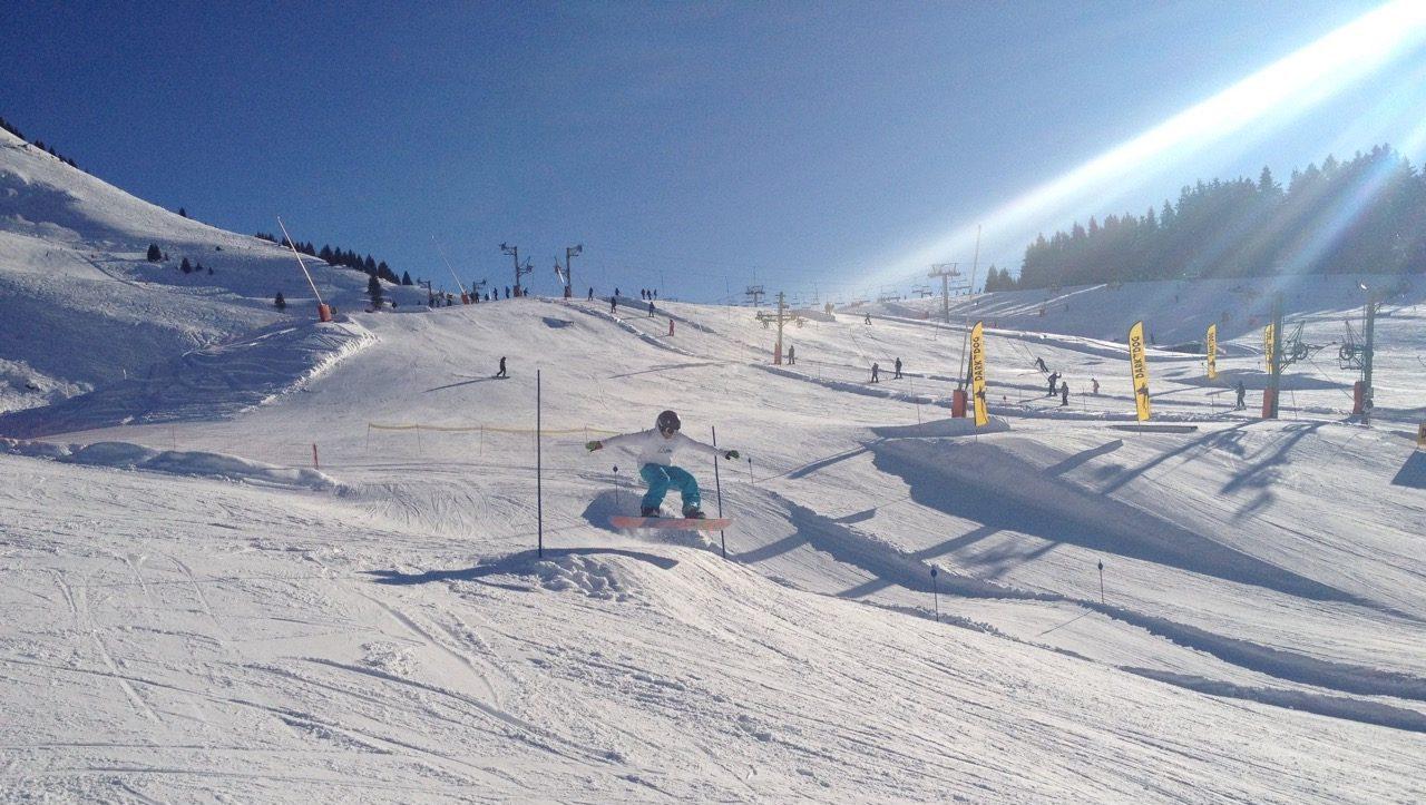 Pointe de Nyon snow park Les Gets