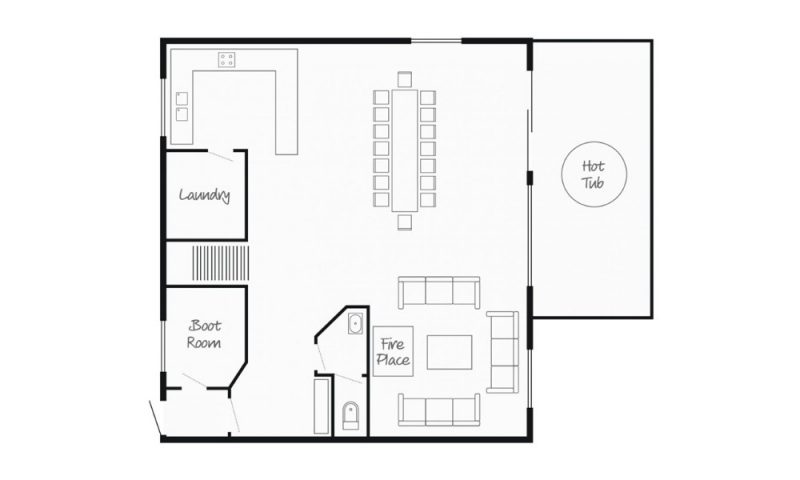 ground floor chalet map