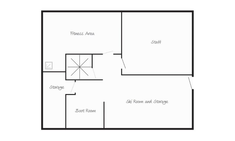 ground floor chalet map