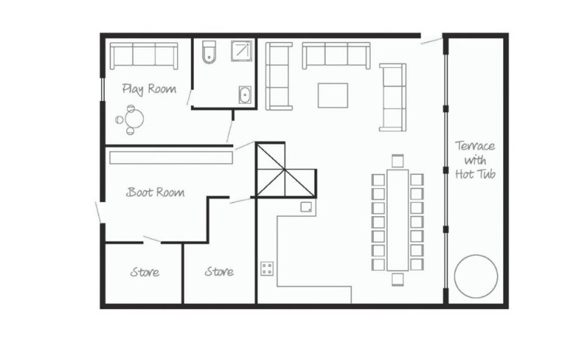 ground floor chalet plan