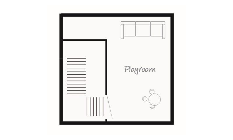 second floor chalet map