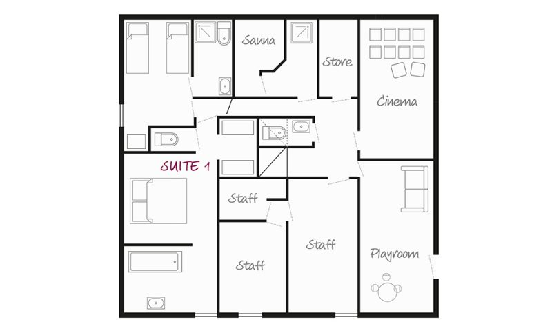 Chalet Aigle Lower Ground Floor