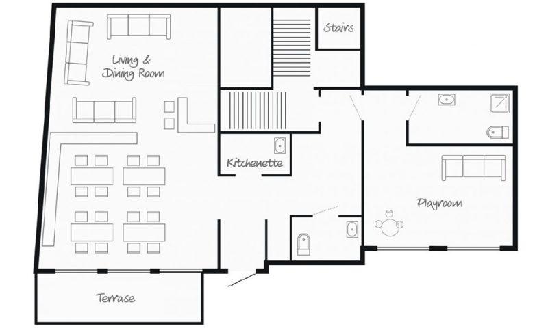 chalet floor map