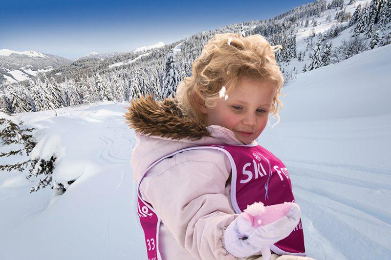 child on slopes at les gets