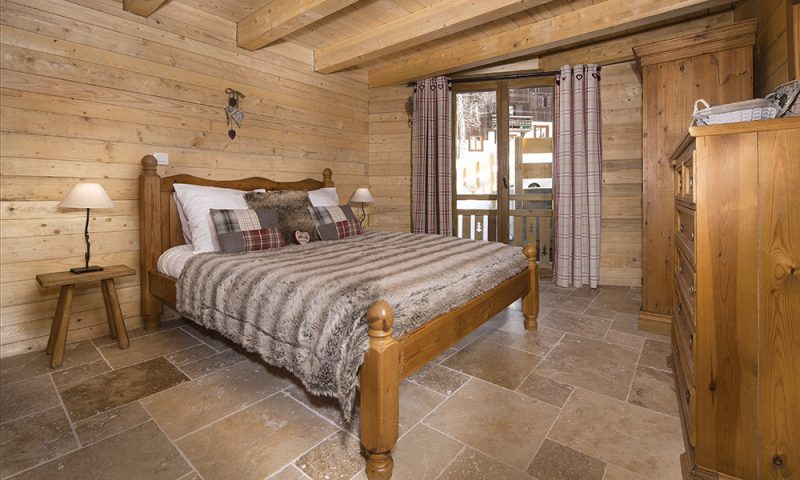 stylish chalet bedroom