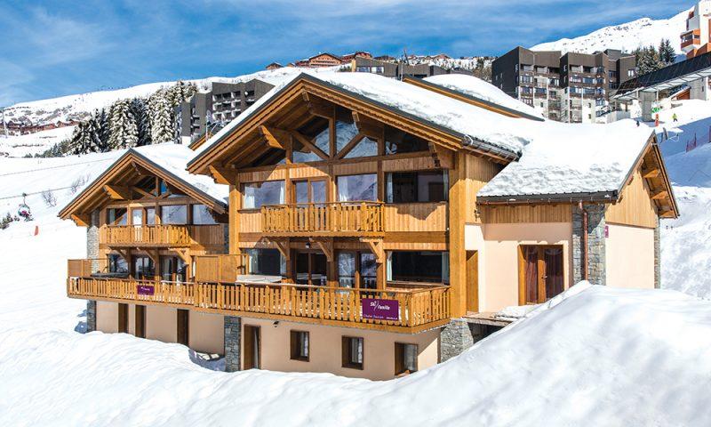 ski chalet outside