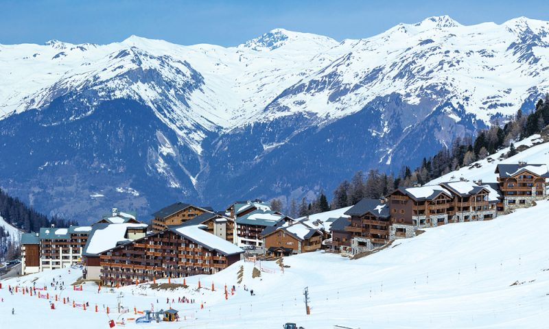 La Plagne slopes and chalets