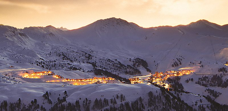 la plagne at night
