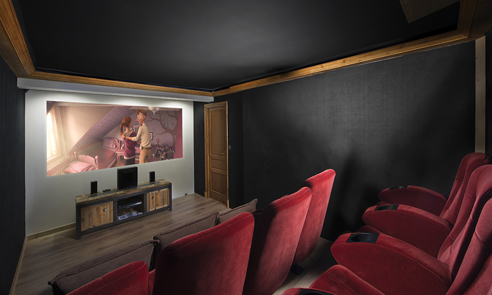 chalet cinema room