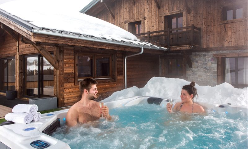 luxury chalet hot tub