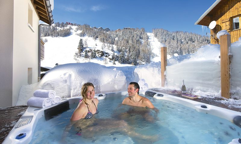 views from chalet hot tub