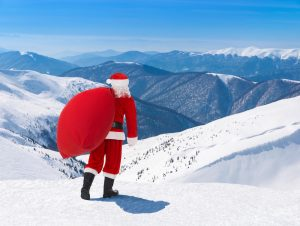 santa on slopes