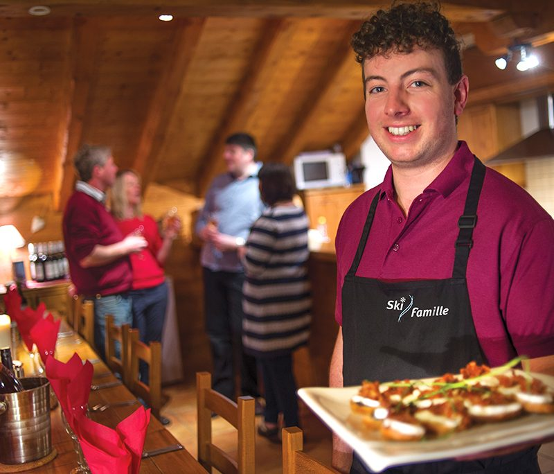 catering at ski famille