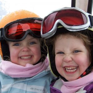children on ski trip