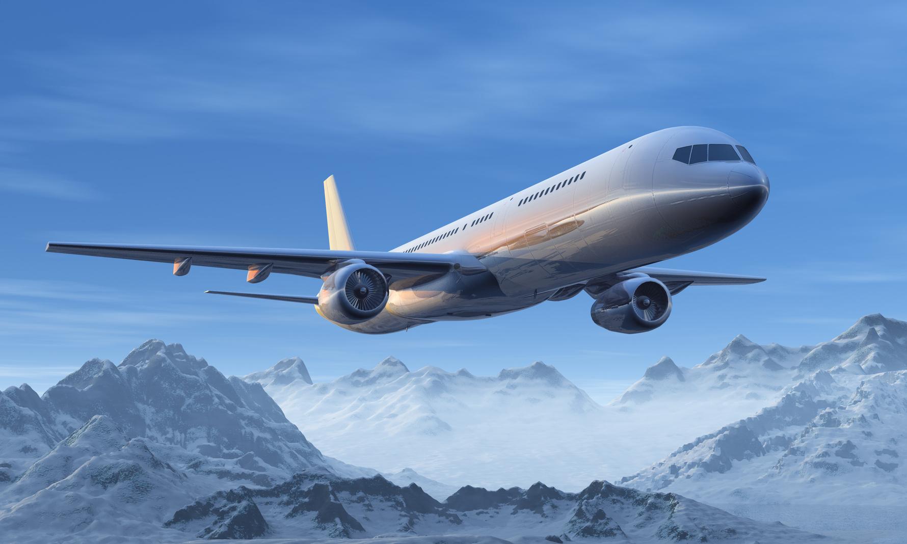 Plane over Alps