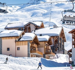 Aigle in the snow with chalets