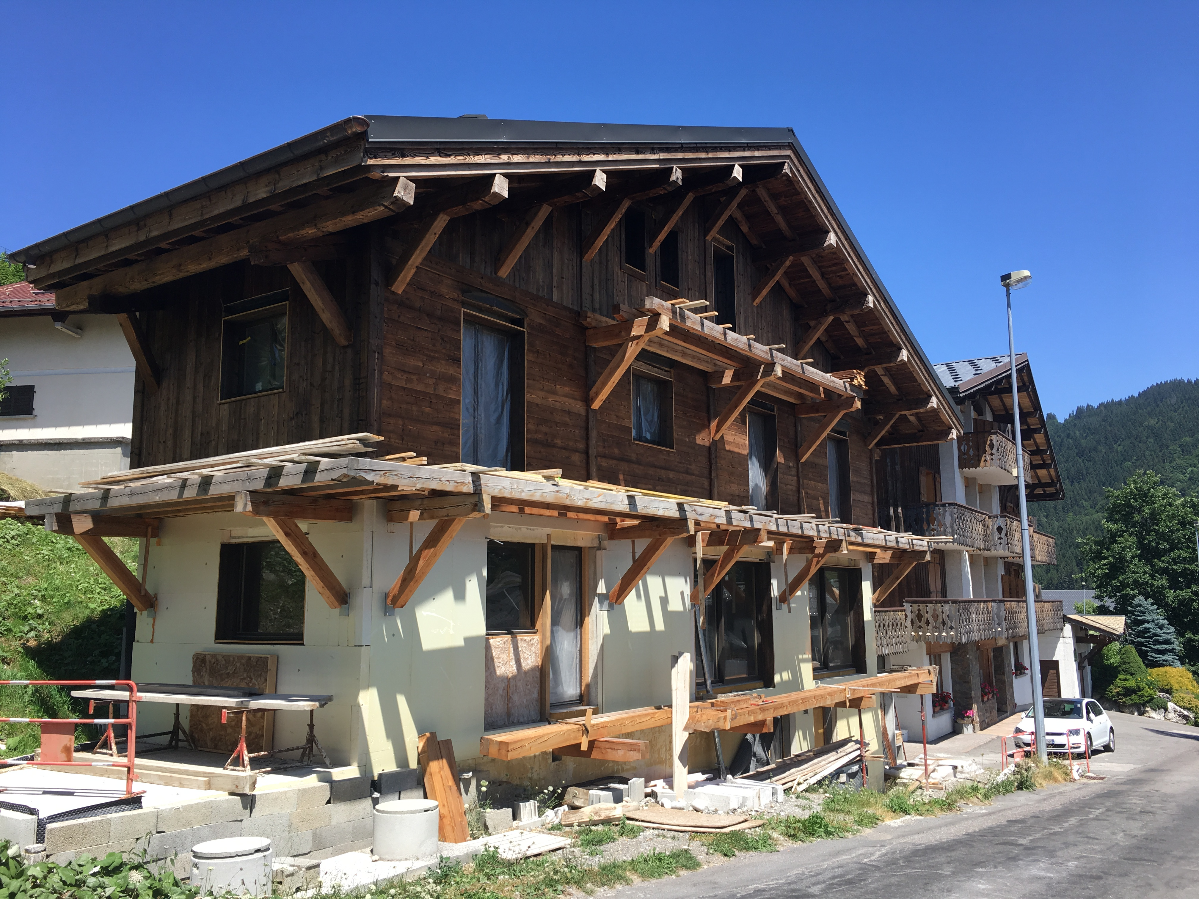 New chalet building work