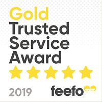 Feefo Gold Trusted Award