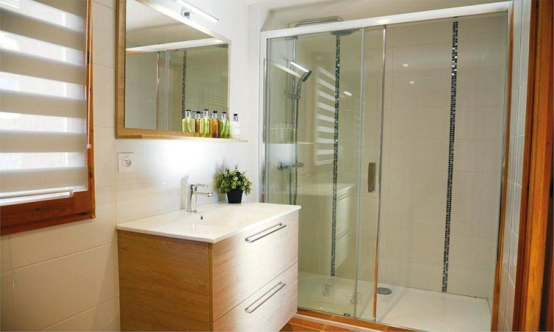 Chalet bathroom with shower